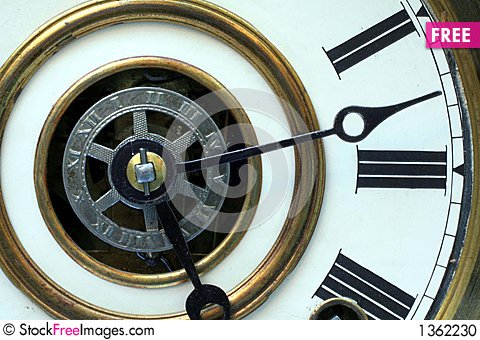 Antique Clock Face Stock Photo