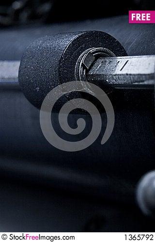 Free Vintage Typewriter Paper Holder Roller Stock Photography - 1365792