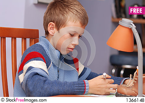 Learning boy Stock Photo
