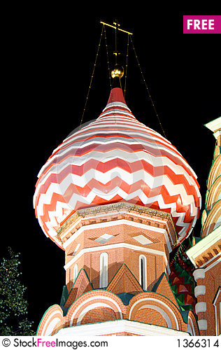 St.Basil Cathedral at Night 4 Stock Photo