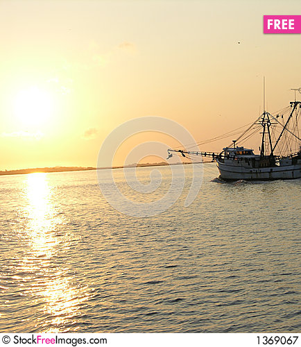 Sunrise fisher Stock Photo