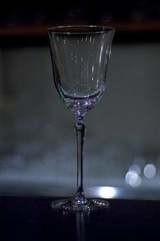 Free Empty Wine Glass Royalty Free Stock Image - 1360506
