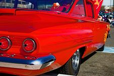 Free Classic Red 60s Chevy Stock Image - 1360541