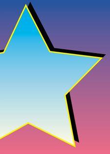 Free Blue Star Stock Image - 1360701