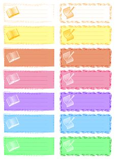 Coloured Labels 2 Stock Photos