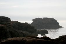 Free The Pink Granite Coast In Bretagne Royalty Free Stock Photography - 1361427