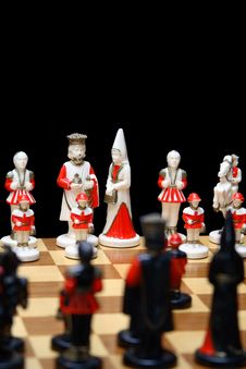 Free Ivory Chess Pieces Royalty Free Stock Photography - 1361627