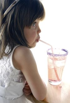 Free Girl With Soda Stock Images - 1361804