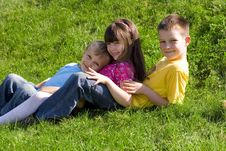 Free Family On A Meadow Royalty Free Stock Photos - 1362328