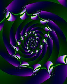 Purple Spiral Stock Photos