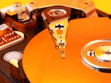 Harddisk Yellow Royalty Free Stock Images