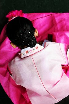 Free Girl Wearing Hanbok Stock Photo - 1363770