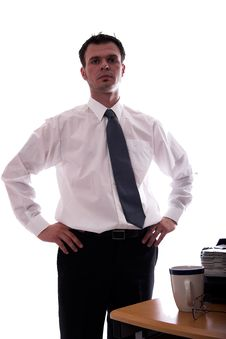 Serious Business Stock Photo