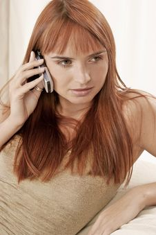 Free Woman Talking On A Phone Stock Photography - 1365272
