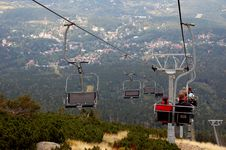 Free Chairlift Royalty Free Stock Photography - 1365487