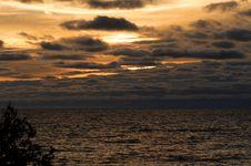 Sunrise Over Lake Michigan Royalty Free Stock Image