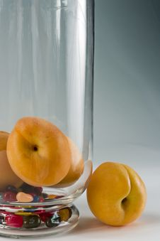 Still Life With Apricots Stock Images