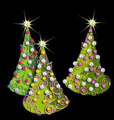 Free Fun, Geometric Christmas Trees Stock Photo - 1366780