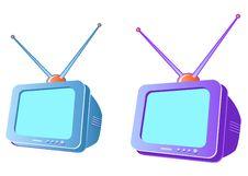 Free Modern CRT Television Set Stock Image - 1369121