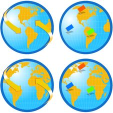 Free Globe World Map Stock Photos - 1369143