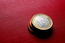 Free Coins EURO Royalty Free Stock Photography - 1369237