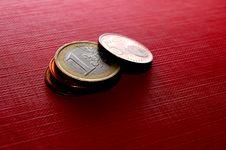 Coins EURO Royalty Free Stock Photos