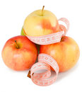 Free Pink Measuring Tape And Some Apples Royalty Free Stock Photos - 13605148