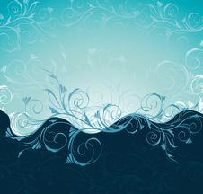 Free Floral Wave Royalty Free Stock Photos - 13600028