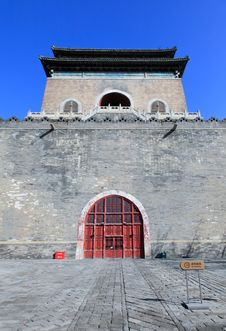 Free The Official City Bell Tower Of Beijing Stock Photography - 13600402