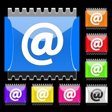 E-mail Rectangular  Buttons Royalty Free Stock Photography