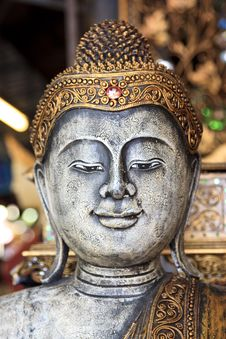 Free Decorative Antique Look Buddha Face Stock Photo - 13601610