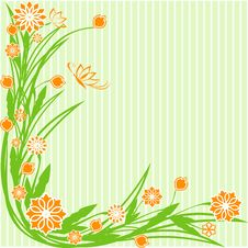 Free Green Floral Ornament Royalty Free Stock Photo - 13602075