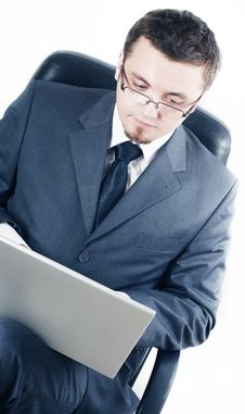 Free Business Man With Laptop Stock Images - 13602234