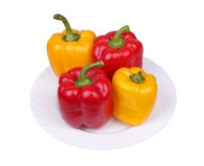 Free Multi-coloured Pepper On A Plate Stock Photography - 13602572