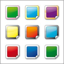 Buttons With Folded Frame Stock Photo
