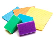 Free Colored Sponges For Washing Dishes And Clothes Stock Photo - 13603090