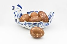 Free Decorated Eggs Royalty Free Stock Photo - 13603455