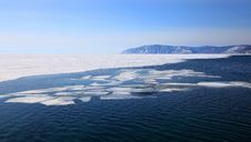 Free Frozen Lake Baikal Royalty Free Stock Images - 13603589