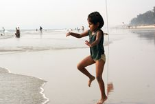 Free Happy Baby On Beach Royalty Free Stock Photography - 13603667