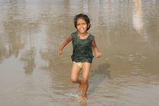Free Happy Baby On Beach Royalty Free Stock Image - 13603836