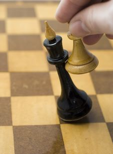 Free Pawn Queen Won Stock Photography - 13603862