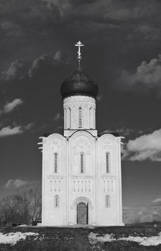 Free Church Of The Intercession On The Nerl Stock Photos - 13603893