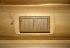 Free Two Woody Switches Royalty Free Stock Images - 13604029