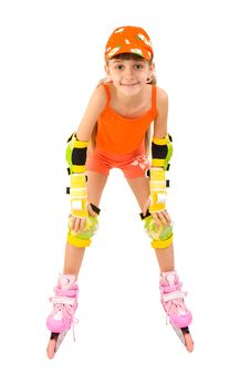 Free The Girl On Roller Skates Royalty Free Stock Images - 13604159