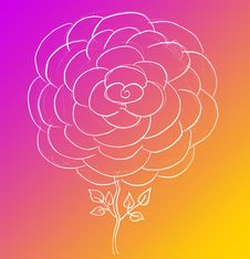 Free Rose Sketch Royalty Free Stock Photos - 13604948