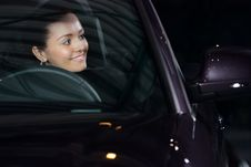 Young Pretty Woman Driving Car Royalty Free Stock Photography