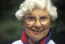 Free Senior Woman With White Hair Royalty Free Stock Image - 13605446