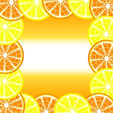 Free Citrus Frame Royalty Free Stock Photography - 13605557