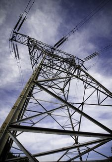 Free High Voltage Power Line Tower Stock Photography - 13605672