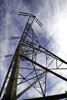 Free High Voltage Powerline Tower Stock Images - 13605674